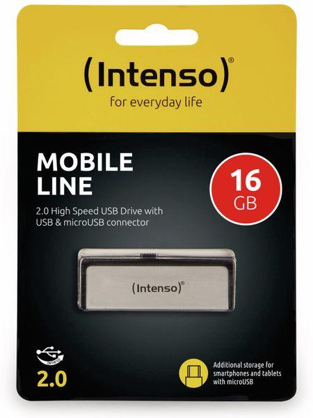 USB 2.0 Speicherstick INTENSO Mobile Line, 16 GB - Produktbild 2