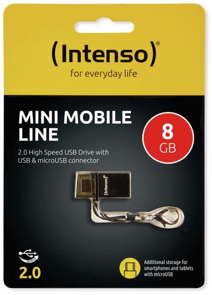 USB 2.0 Speicherstick INTENSO Mini Mobile Line, 8 GB - Produktbild 2