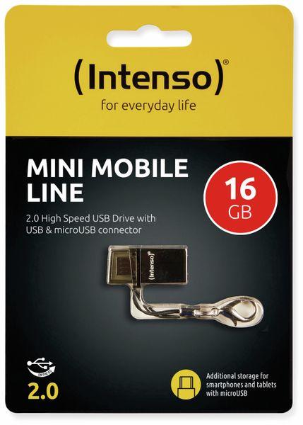 USB 2.0 Speicherstick INTENSO Mini Mobile Line, 16 GB - Produktbild 2