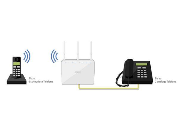 WLAN DSL-Router mit Telefonanlage TP-LINK Archer VR200v - Produktbild 11