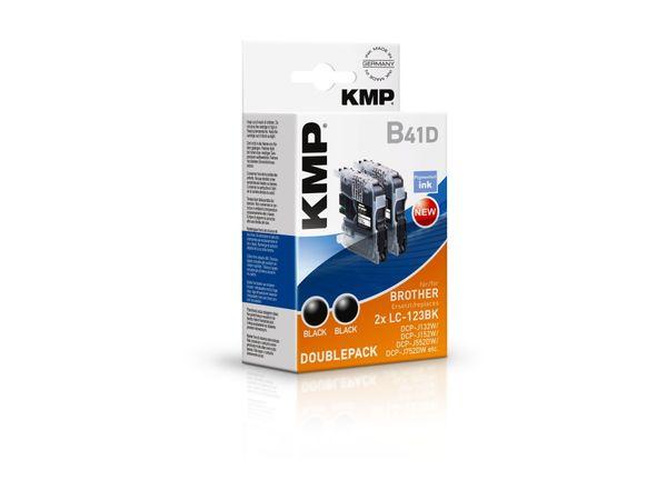 Tintenpatronen-Set KMP, kompatibel für Brother 2x LC-123BK, 2x schwarz