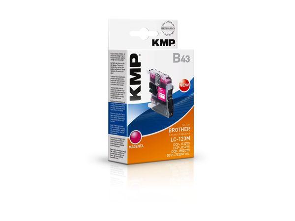 Tintenpatrone KMP, kompatibel zu Brother LC-123M, magenta