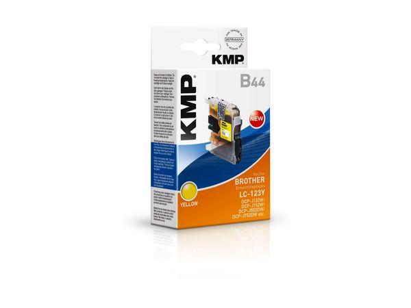 Tintenpatrone KMP, kompatibel zu Brother LC-123Y, gelb