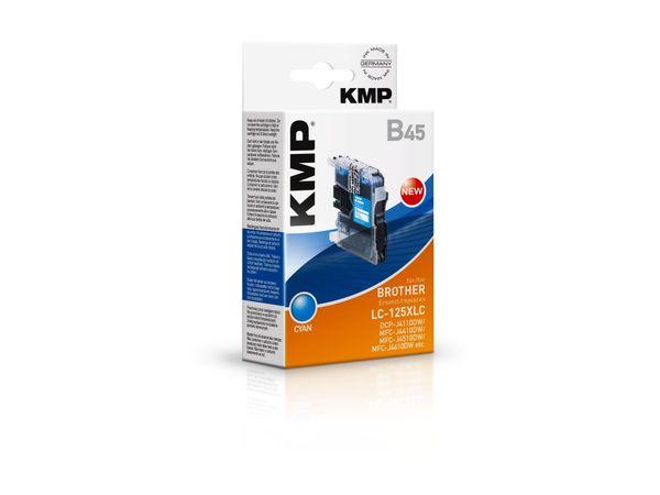 Tintenpatrone KMP, kompatibel zu Brother LC-125XLC, cyan