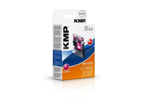 Tintenpatrone KMP, kompatibel zu Brother LC-125XLM, magenta