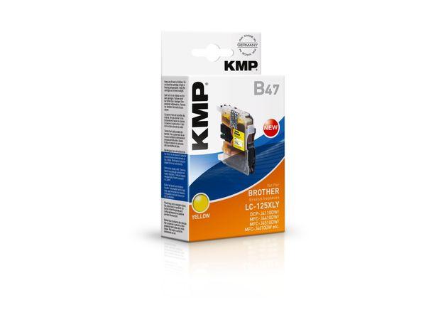 Tintenpatrone KMP, kompatibel zu Brother LC-125XLY, gelb