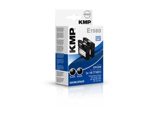 Tintenpatronen-Set KMP, kompatibel für Epson 2x 18 (T1801), schwarz