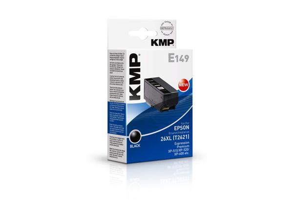 Tintenpatrone KMP, kompatibel für Epson 26XL (T2621), schwarz