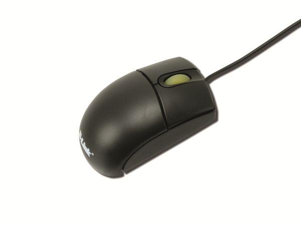 Mini-Optical-Mouse 2-Link MM0019, schwarz