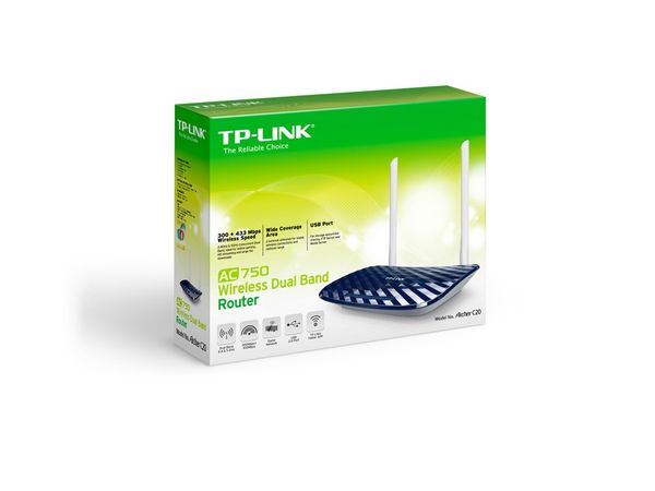 Dualband WLAN-Router TP-LINK Archer C20, V4.0, AC750 - Produktbild 3