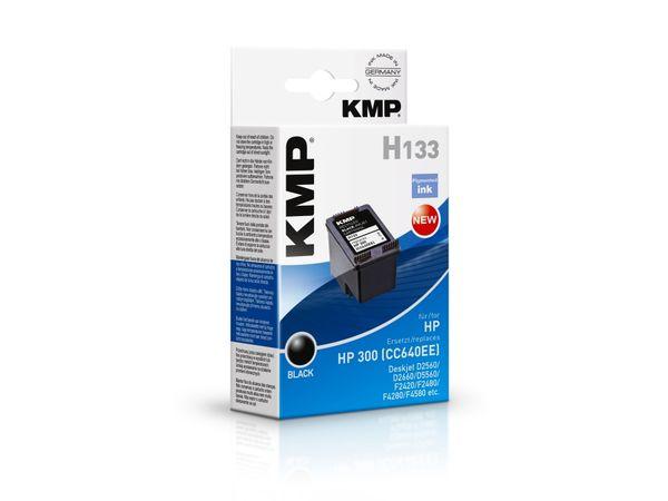 Tintenpatrone KMP, kompatibel für HP 300 (CC640EE), schwarz