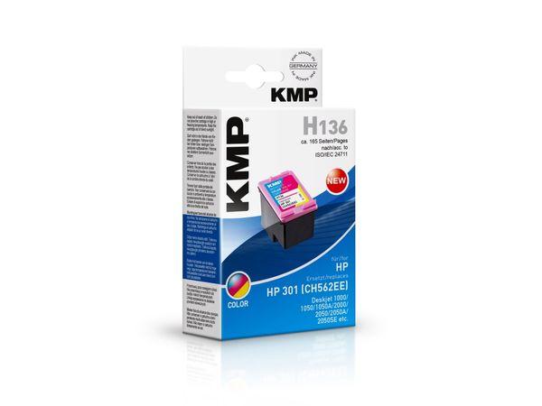 Tintenpatrone KMP, kompatibel für HP 301 (CH562EE), 3-Color