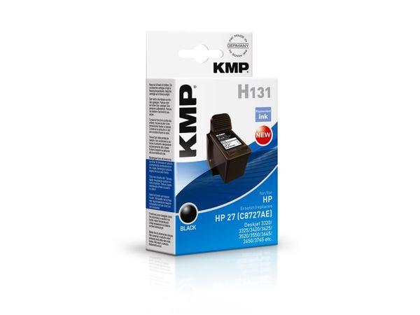 Tintenpatrone KMP, kompatibel für HP 27 (C8727AE), schwarz