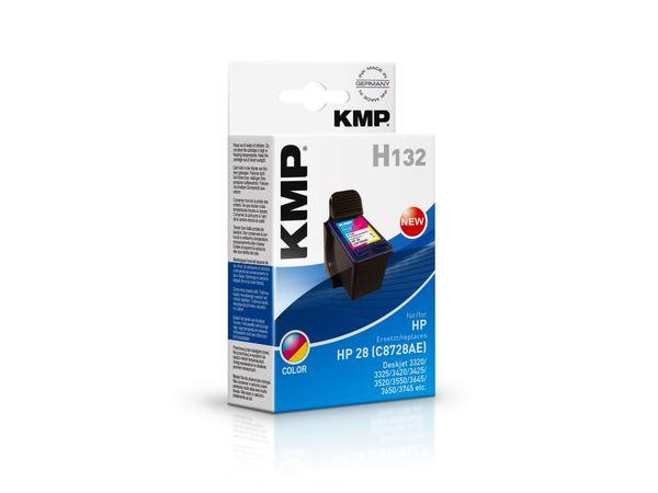 Tintenpatrone KMP, kompatibel für HP 28 (C8728AE), 3-Color