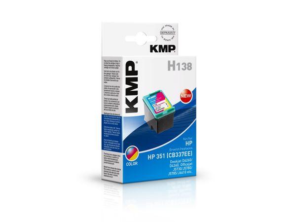 Tintenpatrone KMP, kompatibel für HP 351 (CB337EE), 3-Color