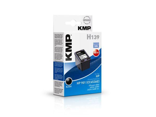 Tintenpatrone KMP, kompatibel für HP 901 (CC653AE), schwarz