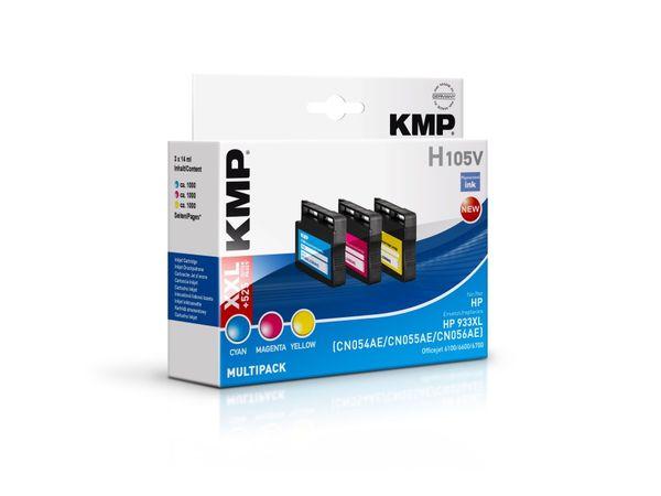 Tintenpatronen-Set KMP, kompatibel für HP 933XL (CN054AE/CN055AE/CN056AE)