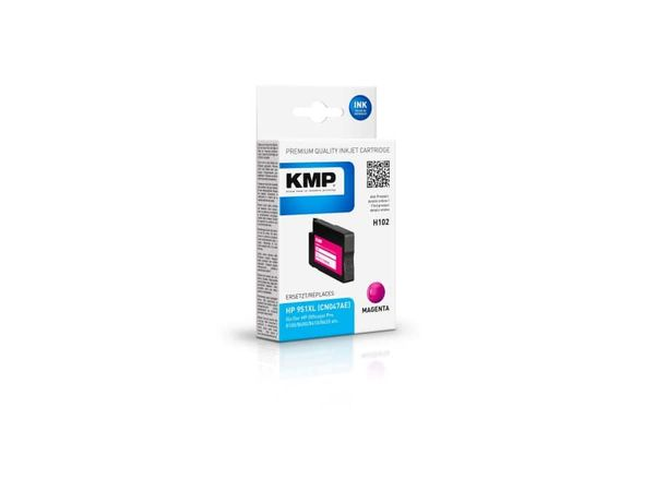 Tintenpatrone KMP, kompatibel für HP 951XL (CN047AE), magenta