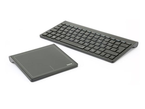 Funktastatur mit Touchpad HAMA Wireless 8 Board 50427, schwarz - Produktbild 1
