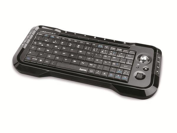 Funktastatur HAMA Uzzano 2.0 53822, schwarz - Produktbild 1