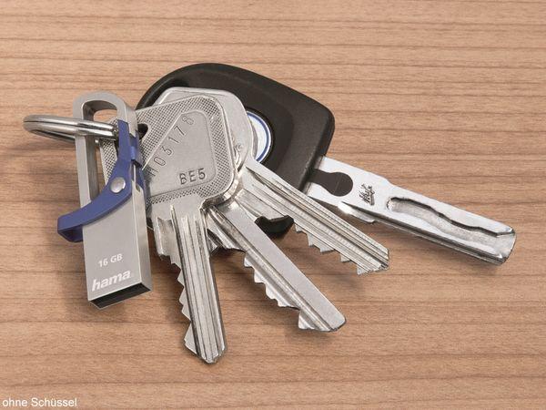 USB-Speicherstick HAMA Hook-Style 123920, 16 GB, blau - Produktbild 2