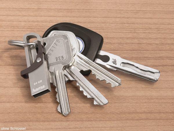 USB-Speicherstick HAMA Hook-Style 123922, 64 GB, grau - Produktbild 2