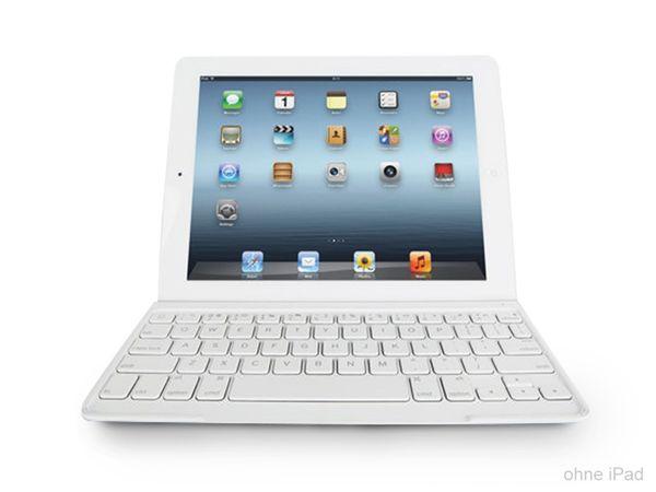 Bluetooth Tastatur LOGITECH Keyboard Cover für iPad2/3/4, weiß - Produktbild 1