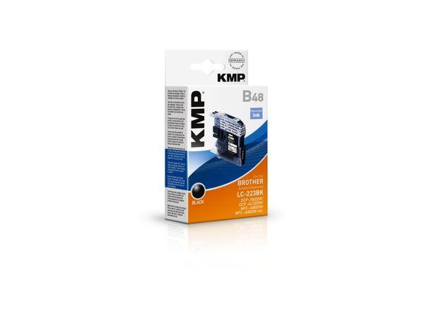 Tintenpatrone KMP, kompatibel zu Brother LC-223BK, schwarz