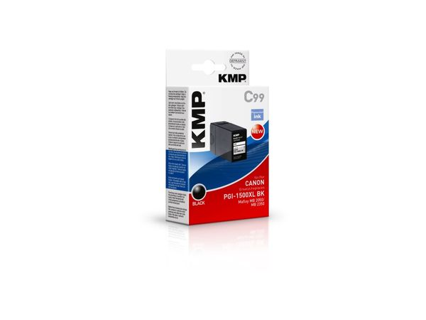 Tintenpatrone KMP, kompatibel zu Canon PGI1500XL BK, schwarz