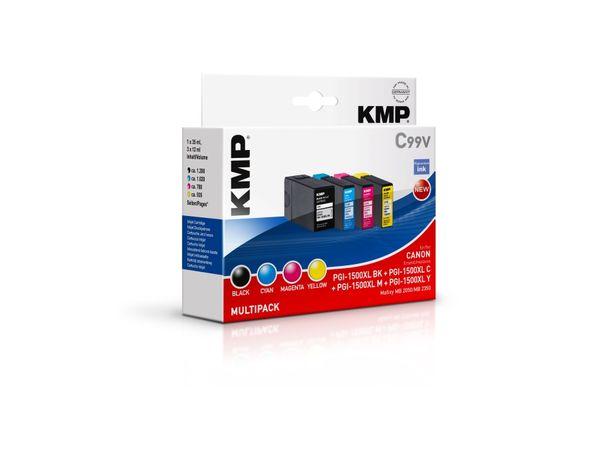Tintenpatronen-Set KMP, kompatibel zu Canon PGI1500XL BK/C/M/Y