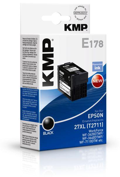 Tintenpatrone KMP, kompatibel zu Epson 27XL (T2711), schwarz