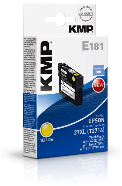 Tintenpatrone KMP, kompatibel zu Epson 27XL (T2714), gelb