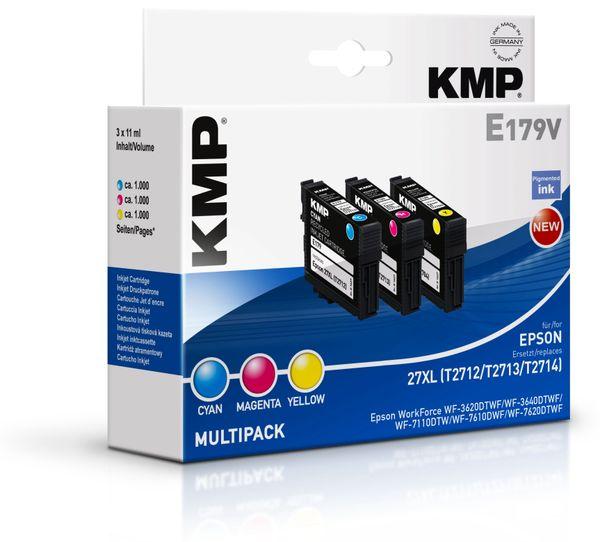 Tintenpatronen-Set KMP, kompatibel zu Epson 27XL (T2712/T2713/T2714), C/M/Y