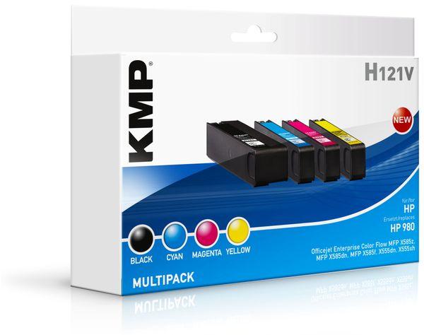 Tintenpatronen-Set KMP, kompatibel zu HP 980 (D8J10A/D8J07A/D8J08A/D8J09A)