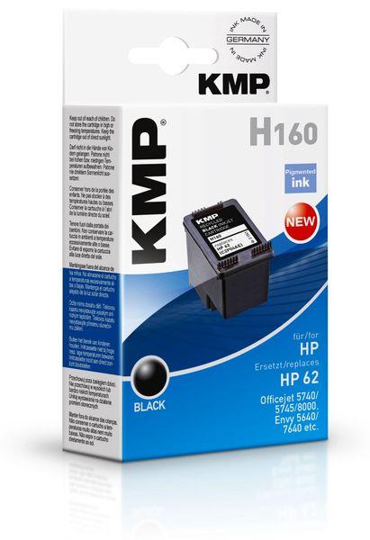 Tintenpatrone KMP, kompatibel für HP 62 (C2P04AE), schwarz