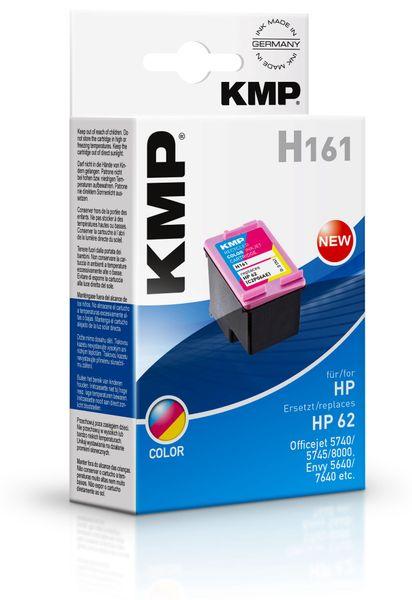 Tintenpatrone KMP, kompatibel für HP 62 (C2P06AE), color