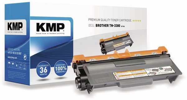 Toner KMP, kompatibel für Brother TN3380, schwarz