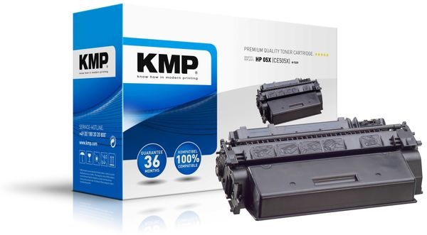 Toner KMP, kompatibel für HP CE505X, schwarz