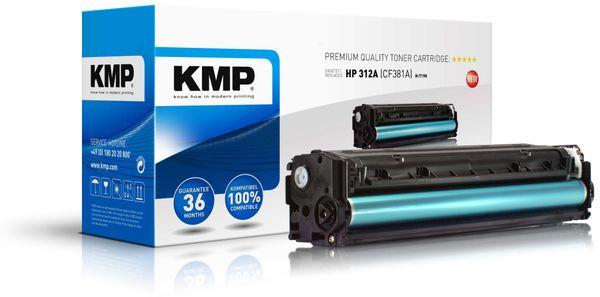 Toner KMP, kompatibel für HP CF381A, cyan