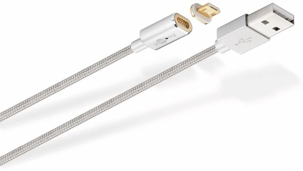 USB 2.0 Magnet-Kabel GOOBAY 40912, USB-A/Micro-USB, 1,2 m - Produktbild 1