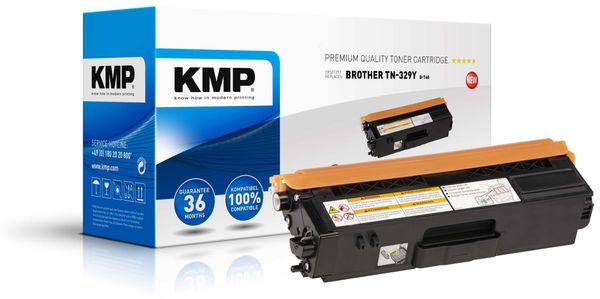 Toner KMP B-T68, kompatibel für TN329Y, gelb
