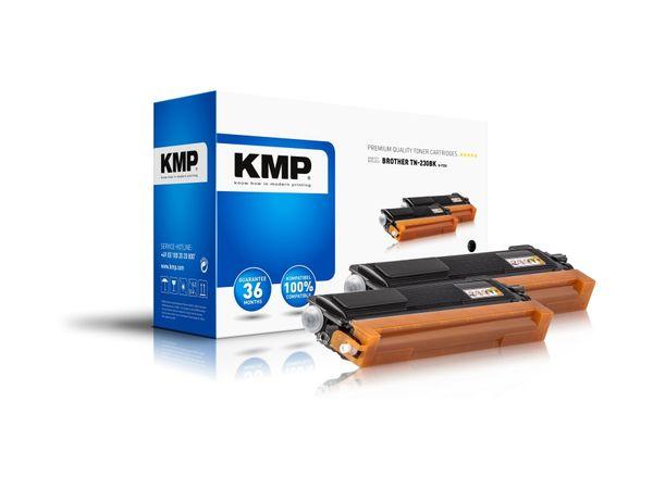 Toner KMP B-T32D, kompatibel für TN230BK, schwarz, 2 Stück