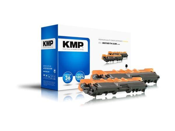 Toner KMP B-T57D, kompatibel für TN242BK, schwarz, 2 Stück