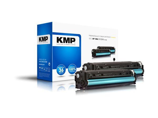 Toner KMP H-T144D, kompatibel für HP 128A, schwarz, 2 Stück