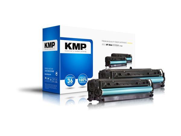 Toner KMP H-T122D, kompatibel für HP 304A, schwarz, 2x Stück