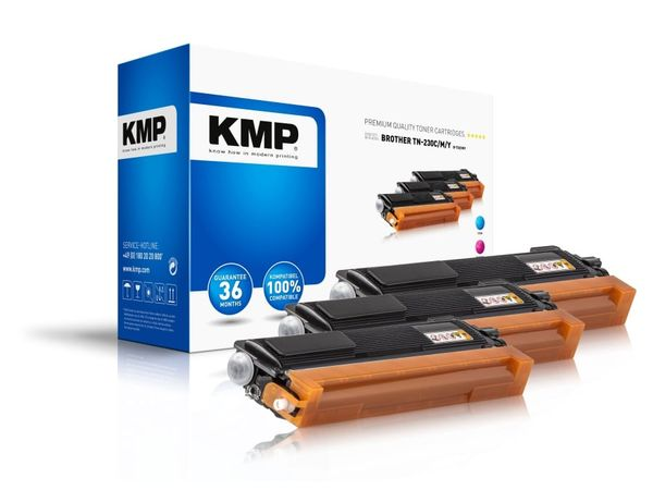 Toner KMP B-T32, für Brother TN230C/TN230M/TN230Y, Multipack