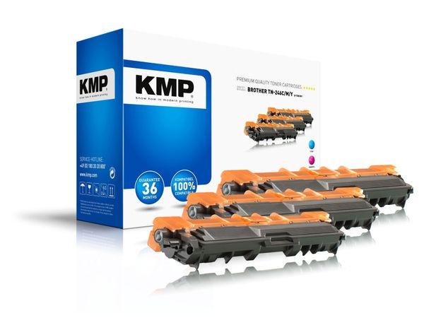 Toner KMP B-T58, kompatibel für TN246C/TN246M/TN246Y, Multipack