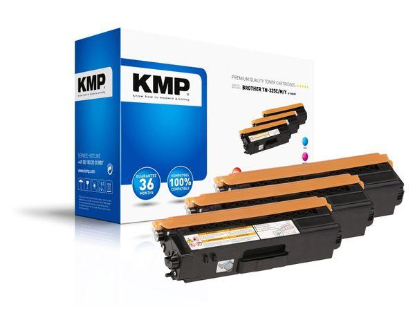 Toner KMP B-T38, kompatibel für TN325C/TN325M/TN325Y, Multipack