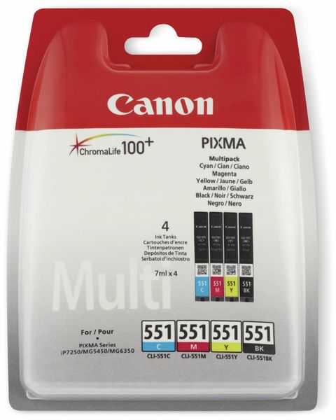 Tinten-Mulitset CANON CLI-551BK/551C/551M/551Y