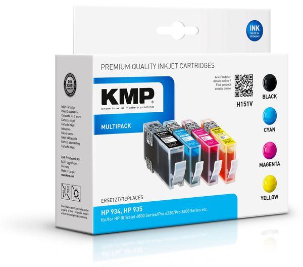 Tintenpatronen-Set KMP, kompatibel für HP 934, HP 935